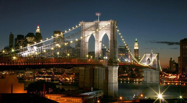 Вышивка бруклинский мост