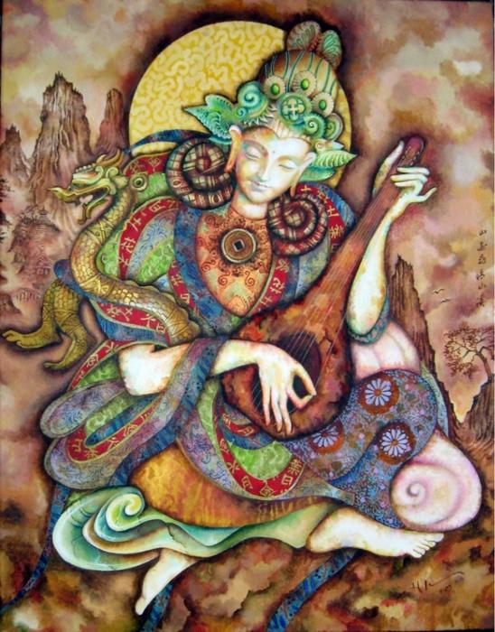 картины американской художницы Холли Сьерра 9 (548x700, 350Kb)