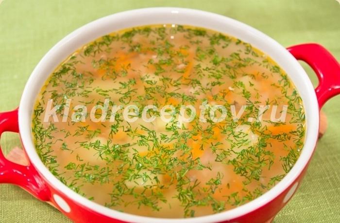 Суп с рыбными консервами 25039