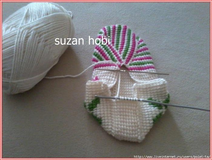 Вязание крючком тунисское вязание тапочки