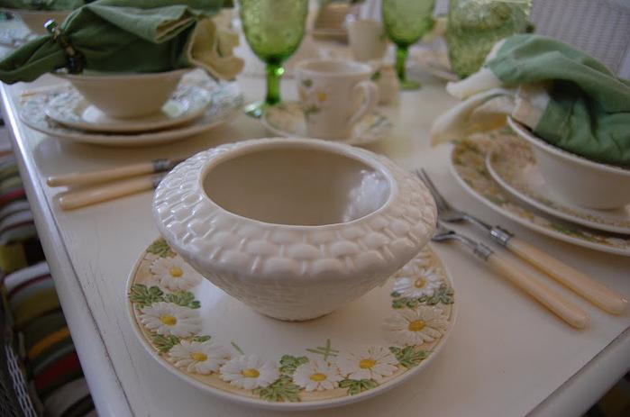 ромашковая посуда.весенняя сервировка стола (9) (700x463, 92Kb)