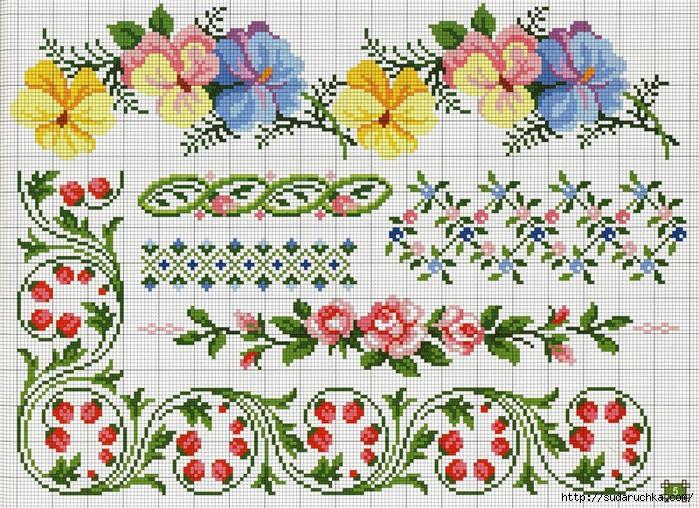 Орнаменты для вышивок крестом