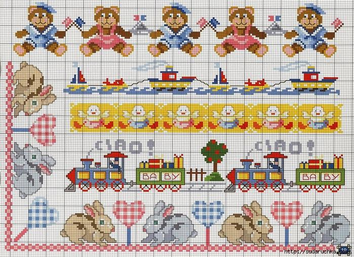 Схема для вышивки детские мотивы
