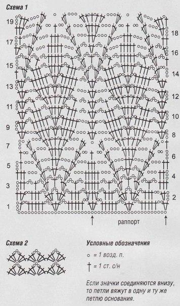 Схема вязания крючком колос 32