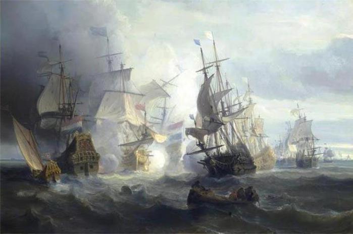 Batalla de Texel, 24 de agosto de 1673 (700x464, 34Kb)