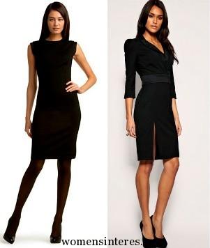 Строгое черное платье образы