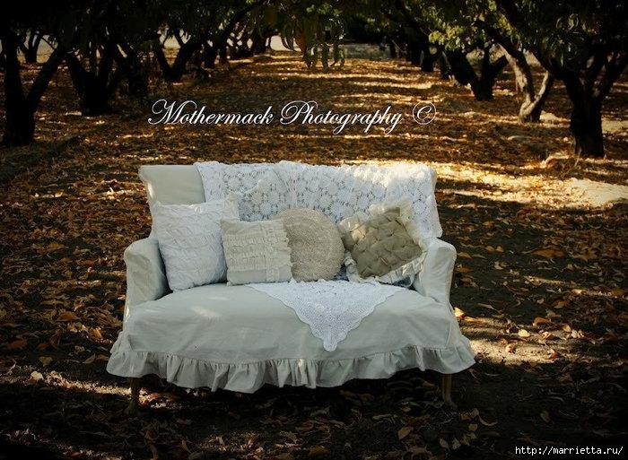 подушки из мешковины, бязи и цветов в стиле шебби шик (21) (700x513, 285Kb)