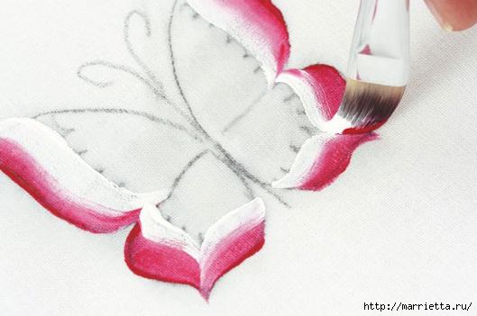 роспись по ткани. растительный мотив с бабочками (7) (529x351, 111Kb)
