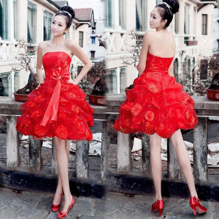 Красные платья на свадьбу фото 7