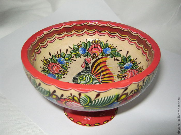 Посуда городецкой росписью 199