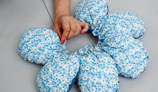 Как сшить подушку своими руками цветок