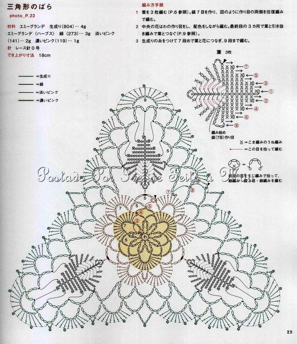"""钩针模式:""""三角花"""" - maomao - 我随心动"""