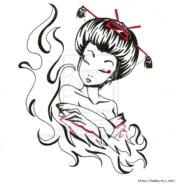 geisha_by_heartandbonebreaker-d3b4mmo (600x625, 158Kb)