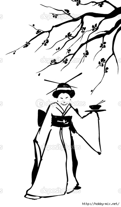 depositphotos_9443110-Geisha-and-sakura. (410x700, 105Kb)