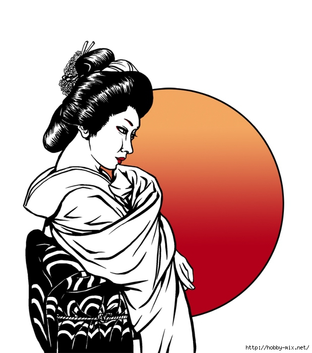 geisha_at_sunset_by_asarea-d4etmtl (619x700, 163Kb)