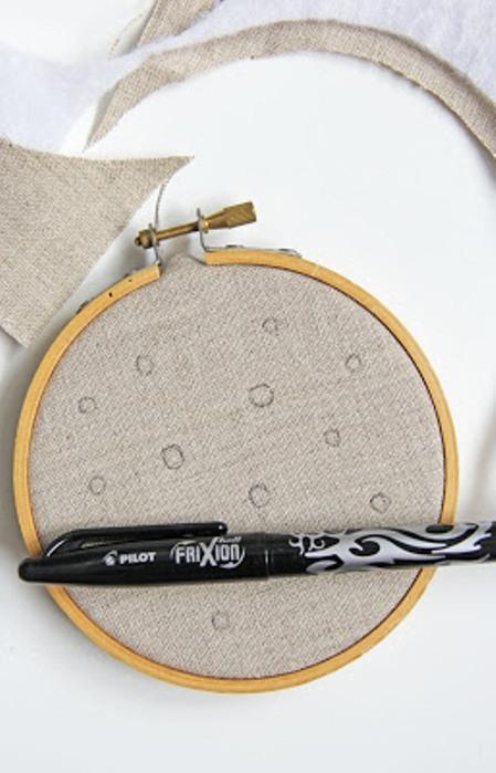 Ромашка ручной вышивки