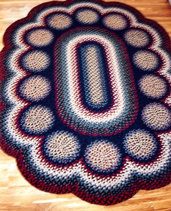 Вязание ковриков крючком из тряпок
