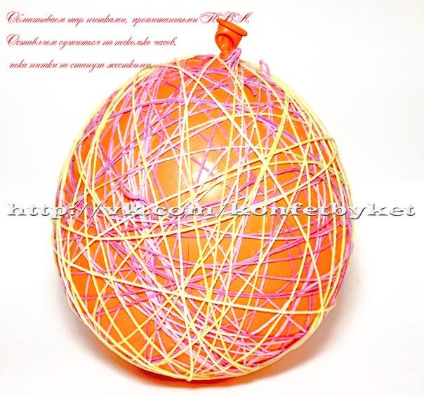 композиция из шара и ниток (2) (604x565, 97Kb)