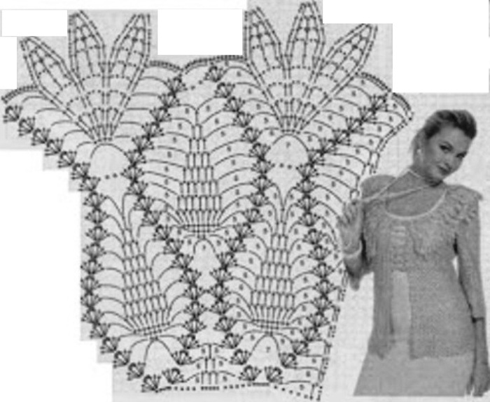 Длинный жакет ажурной вязки