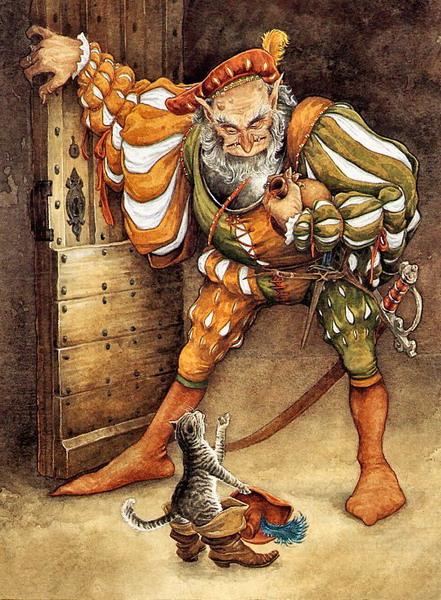 Кот в сапогах иллюстрации