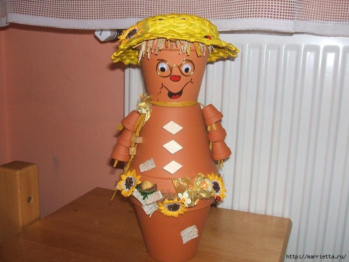 украшение для сада. куклы из цветочных горшков (18) (699x524, 212Kb)