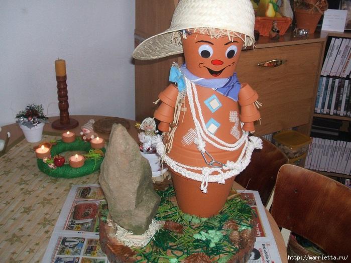 украшение для сада. куклы из цветочных горшков (20) (699x524, 271Kb)