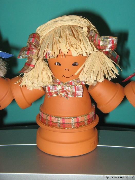 украшение для сада. куклы из цветочных горшков (30) (525x700, 201Kb)