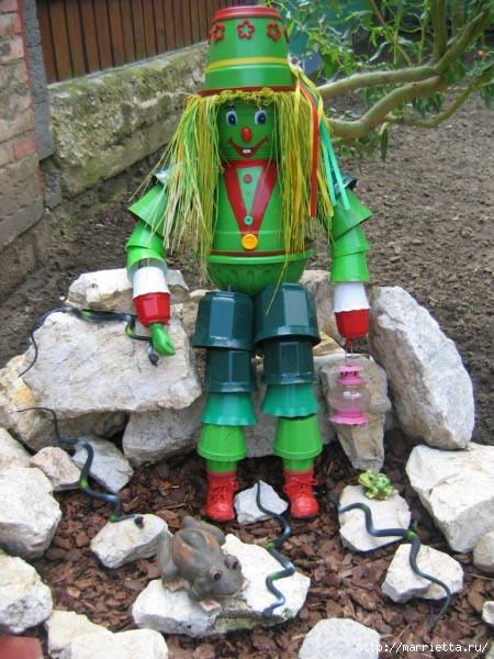 украшение для сада. куклы из цветочных горшков (46) (450x600, 181Kb)