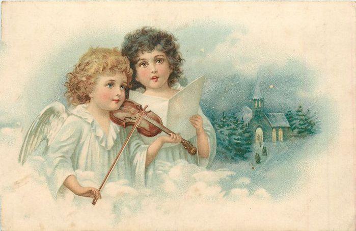 Старинные открытки с нем ангела 139