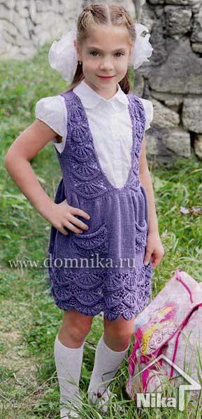 Вяжем платья девочкам до года