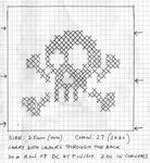 схема черепа для вязания.
