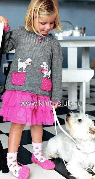 вязаный свитер для девочки 10