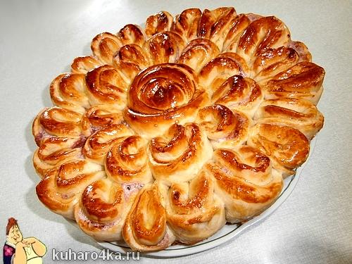 пирог роза
