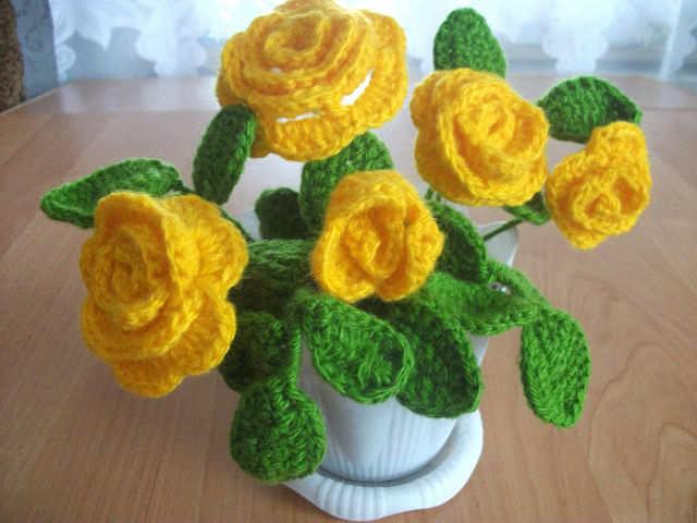 букет вязаных роз Лариса И