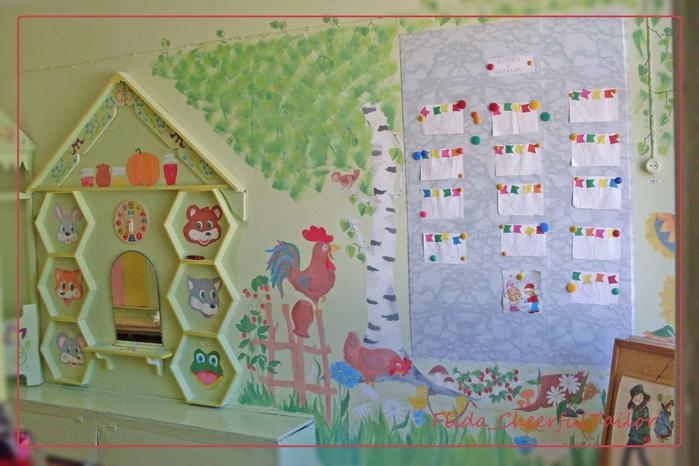 Как оформить стены в детском саду своими руками фото
