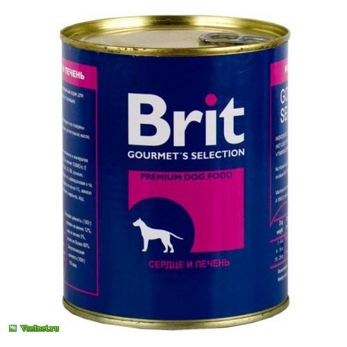 Корм консервированный Brit 1114 (сердцепечень) для взрослых собак 850 г (500x500, 38Kb)