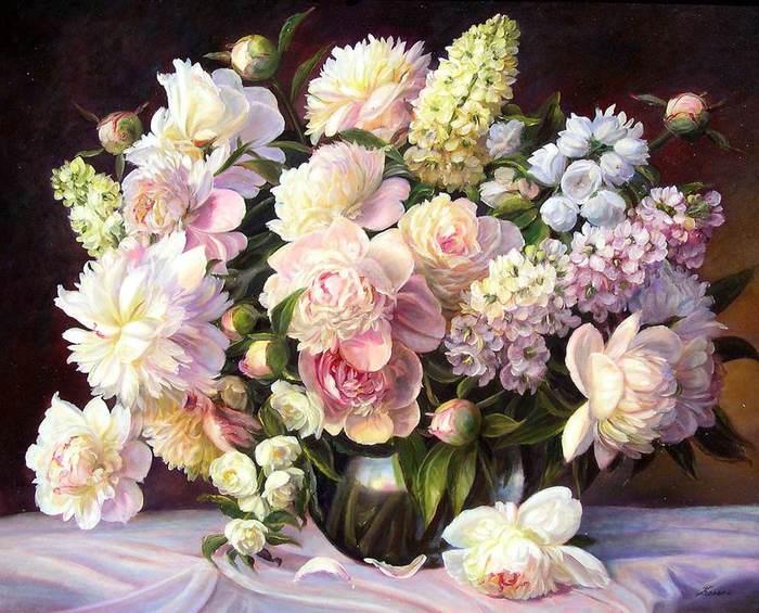 Картины цветы с буквами
