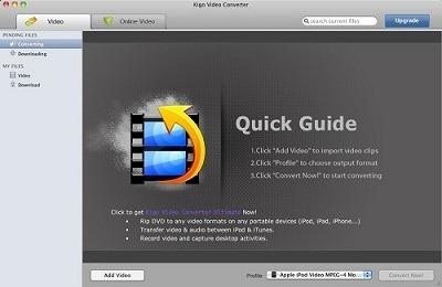 Бесплатная программа конвертации видео для Mac OS. Скачать Kigo Video Converter Free