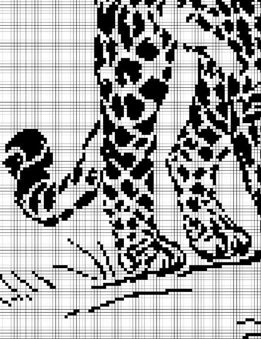 Часть 33 - Тигр в воде-вышивка