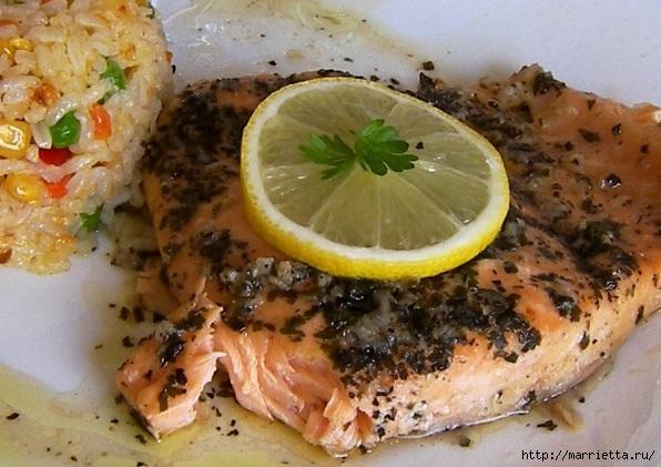 лосось запеченный в фольге (1) (596x421, 176Kb)