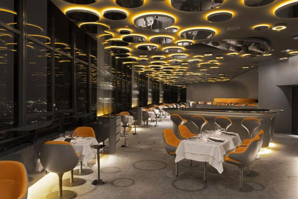 креативный дизайн интерьера ресторан Ciel de Paris (600x401, 70Kb)