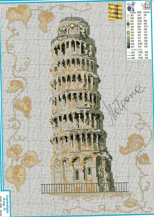 пизанская башня (495x700, 244Kb)