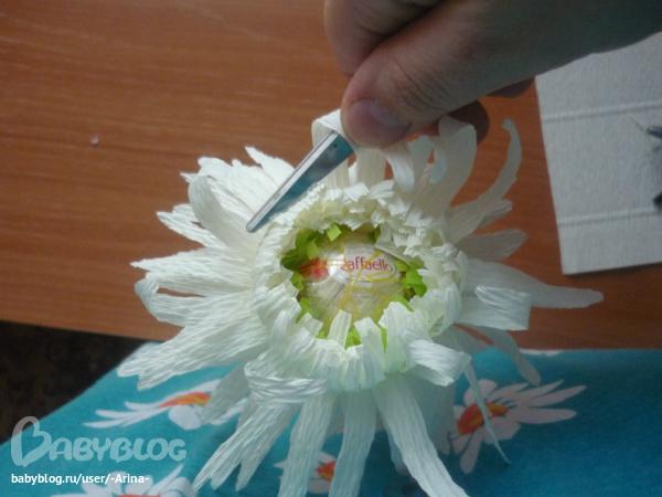 Конфетные букеты хризантема своими руками