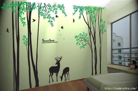 Трафареты для росписи стены