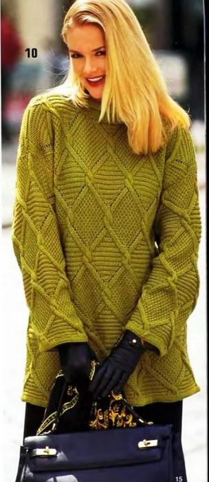 Два узорчатых пуловера