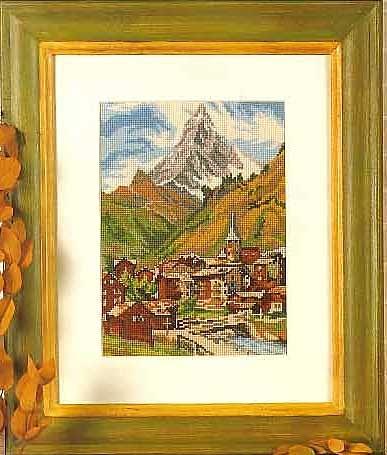 Швейцарский пейзаж (387x455, 50Kb)