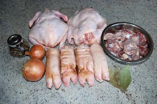 холодец из курицы и свинины рецепт с фото пошагово