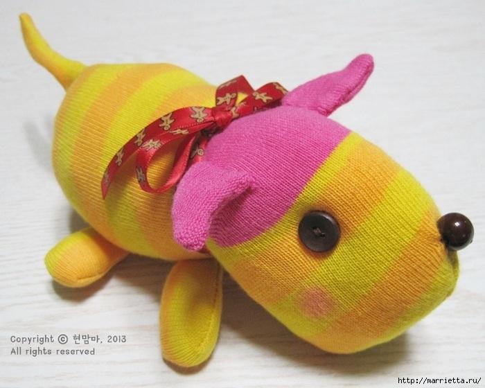 игрушки из носков. собачка (2) (700x560, 198Kb)