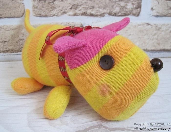 игрушки из носков. собачка (26) (700x541, 216Kb)
