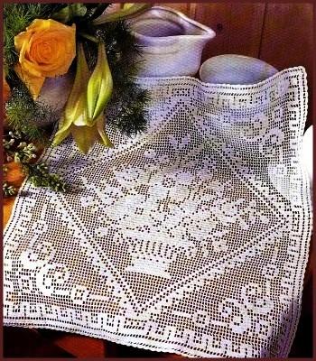 Отступления от правил оговариваются в инструкциях.  Основа техники филейного вязания - сетка, выполненная воздушными...
